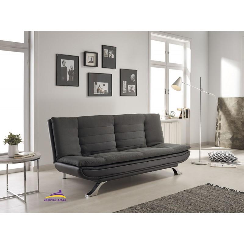 Carrefour sofas Cama Whdr Carrefour sofa Cama Polipiel Moderno Clic Clac Negro