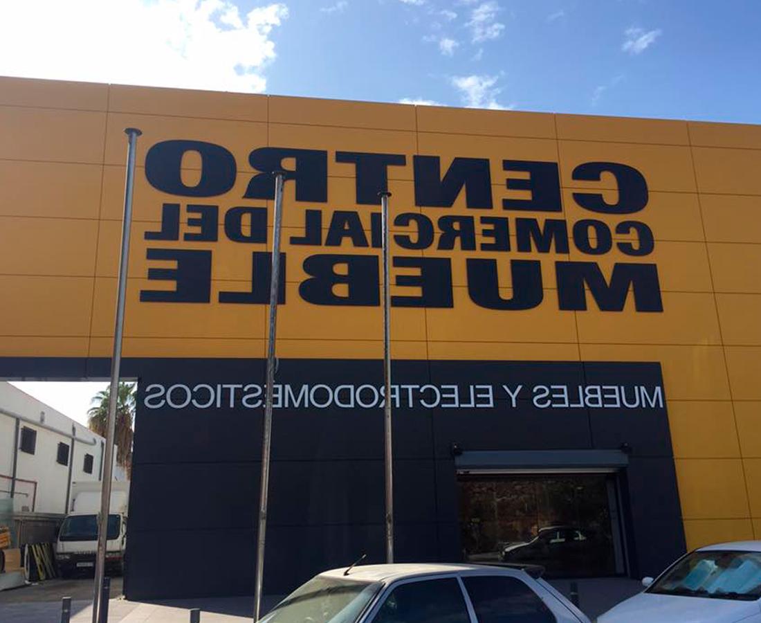 Centro Comercial Del Mueble Kvdd Letras Corpà Reas Para Fachada â Luminosos torres
