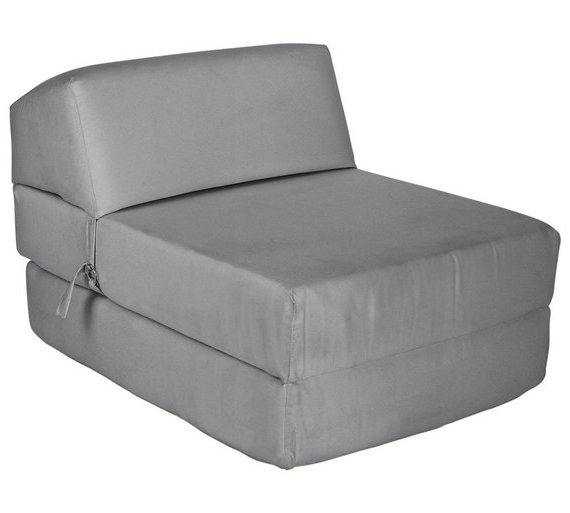 Chair Bed Xtd6 Colourmatch Single Cotton Chairbed Flint Grey sofa Beds