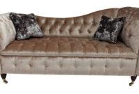 Chaise sofa 9ddf Chesterfield Regency Chaise sofa 2 Seater Shimmer Mink Velvet