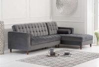 Chaise sofa Zwdg atlantic Grey Velvet Left Facing Chaise sofa