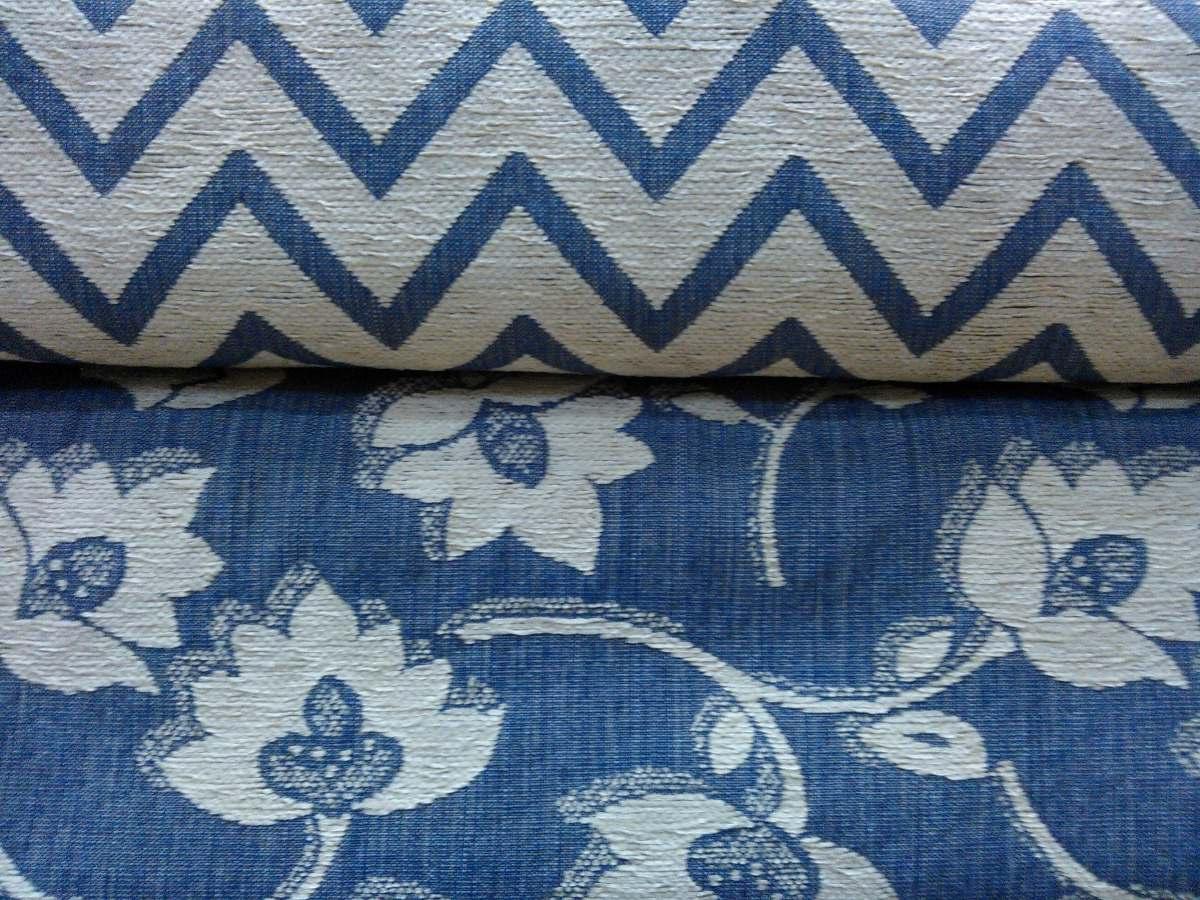 Chenilla Para Tapizar sofas 87dx Tela Chenille Con Jacquard Azul Con Flores Para Tapizar 640 00