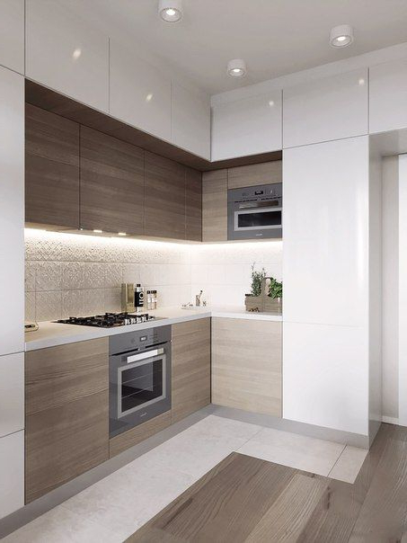 Cocinas Muebles Nkde Cocinas Modernas Pequeà as Con Muebles Oscuros ...
