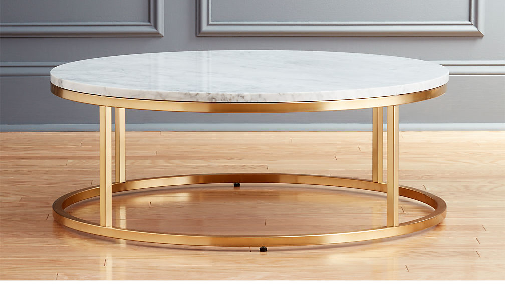094758eebea8e ... Coffee Table Ffdn Smart Round Marble Brass Coffee Table Reviews Cb2 ...