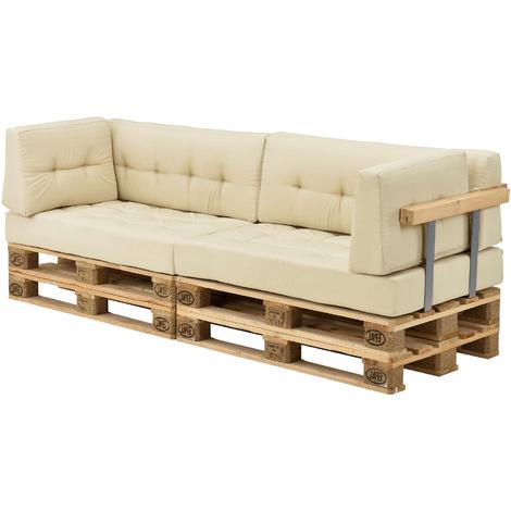 Cojines Para sofa Beige Irdz Ensa Set De Cojines Para sofà De Palà S 2 Cojines De asiento