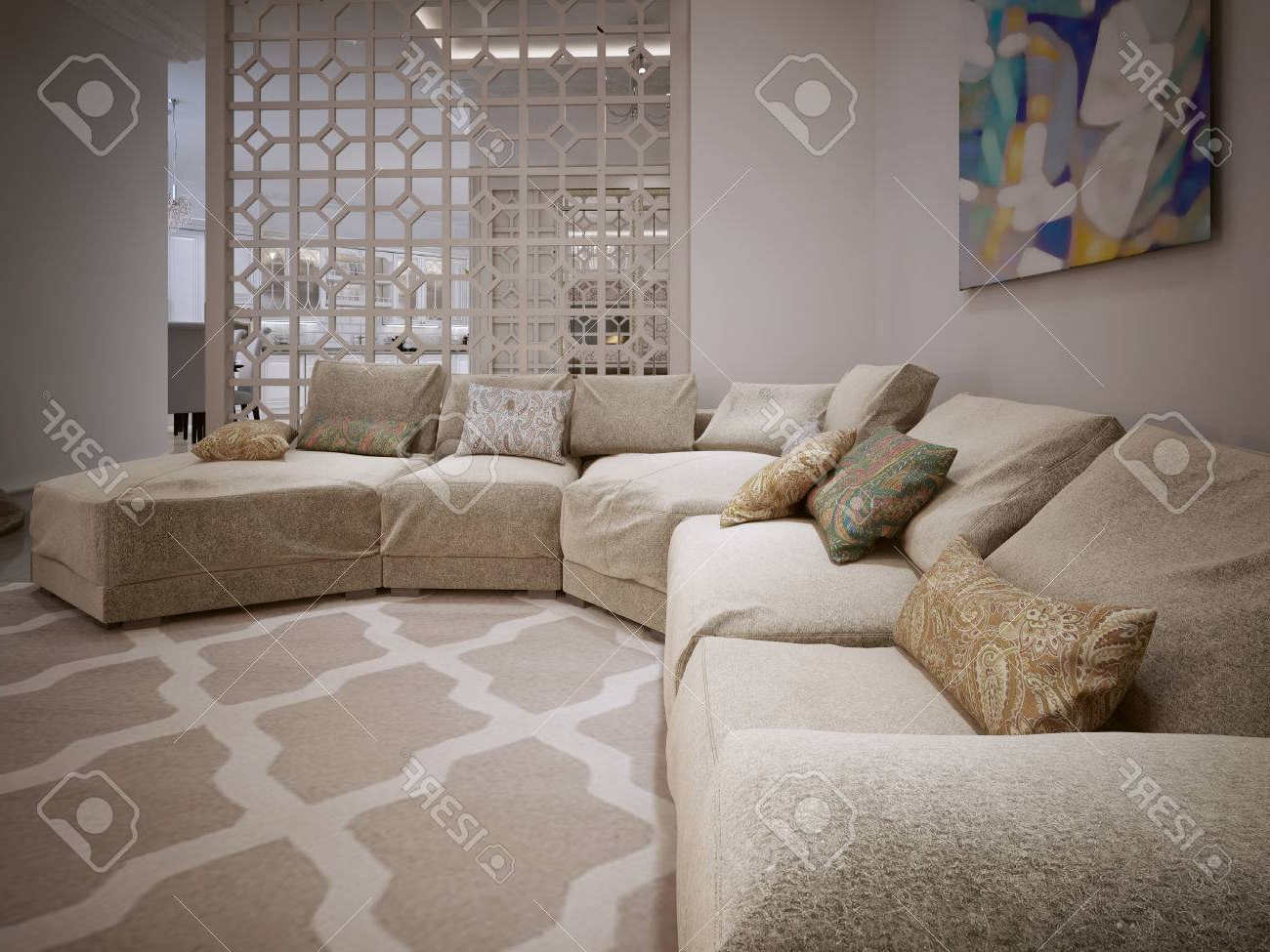 Cojines Para sofa Beige Wddj sofà Grande En Un Estilo Moderno De Cojines De Color Beige De Tela