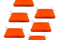 Cojines Sillas Qwdq Edenjardi Pack 6 Cojines Para Sillas De Jardà N Color Naranja