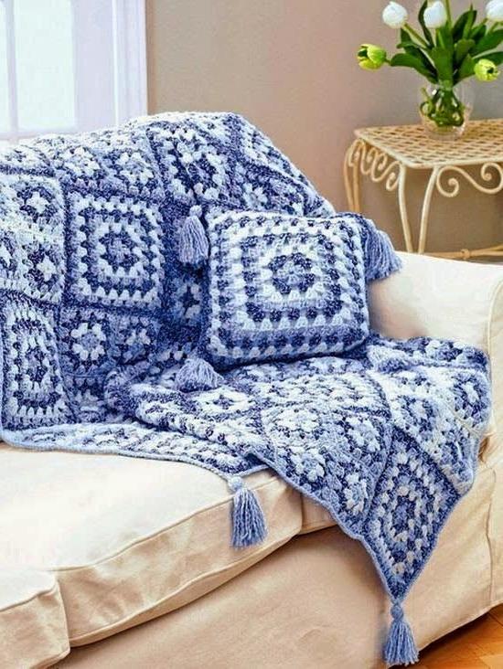 Colcha Para sofa E6d5 Manta E Almofada Para O sofà Lindos Crochet Grà Ficos