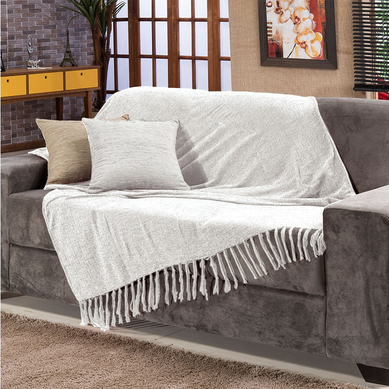 Colcha Para sofa E6d5 Manta Para sofa Sevilha Chenille 120x180cm Marfim Fastlar