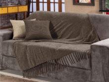 Colcha Para sofa Fmdf Manta Para sofa Sevilha Chenille 120x180cm Marrom Fastlar