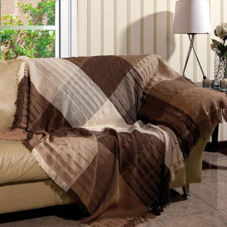 Colcha Para sofa Gdd0 Manta Para sofà Trieste 150×140 Tabaco 1588