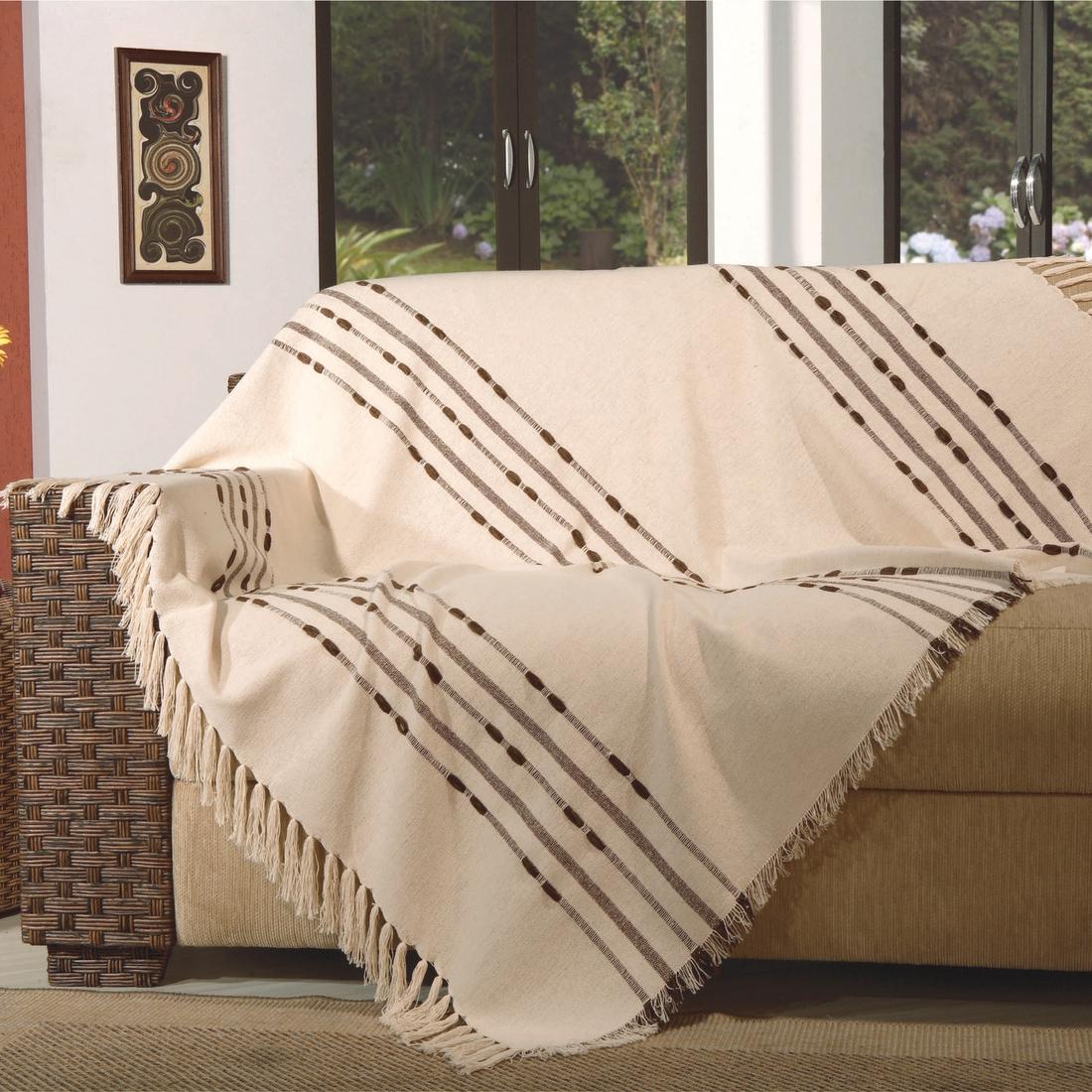 Colcha Para sofa Nkde Manta Para sofa Pegasus 200x150cm Tabaco Fastlar