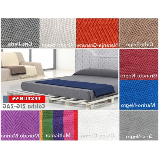 Colcha sofa 87dx Texturas Vip Colcha Multiusos Zig Zag sofà Y Cama Low Cost