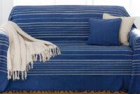 Colcha sofa Ftd8 Colcha Capa De sofà Rústico Riscas Algodà O Venca