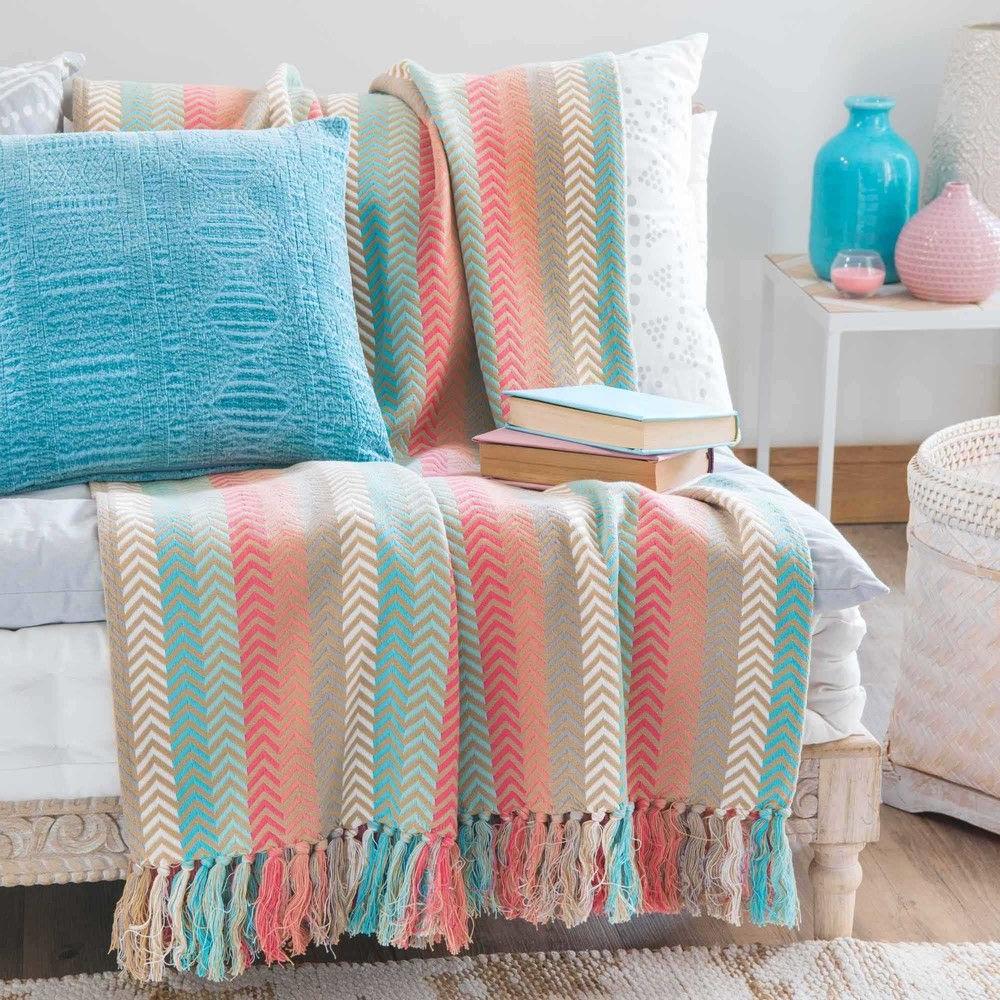 Colcha sofa Rldj Colcha De Algodà N Multicolor Para Cubrir El sofà Tissage