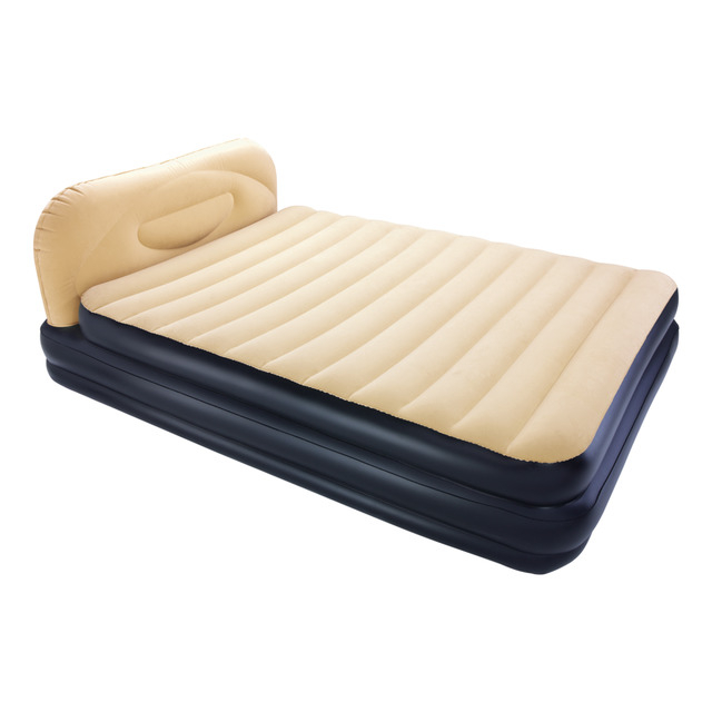 Colchones Hinchables O2d5 Cama Hinchable Flocada Doble Con Cabecero soft Back Hinchador