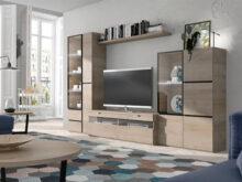 Colores Madera Muebles Ftd8 Mueble Para Tv Modular Con Vitrinas Laterales En Color Madera Natural