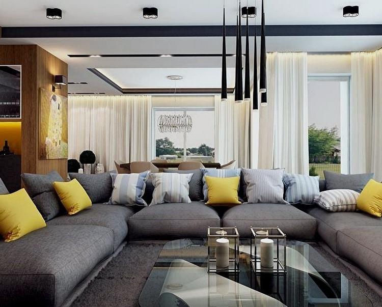Combinar sofa Gris Oscuro Fmdf sofà S Energà A Oscura En El Salà N Moderno