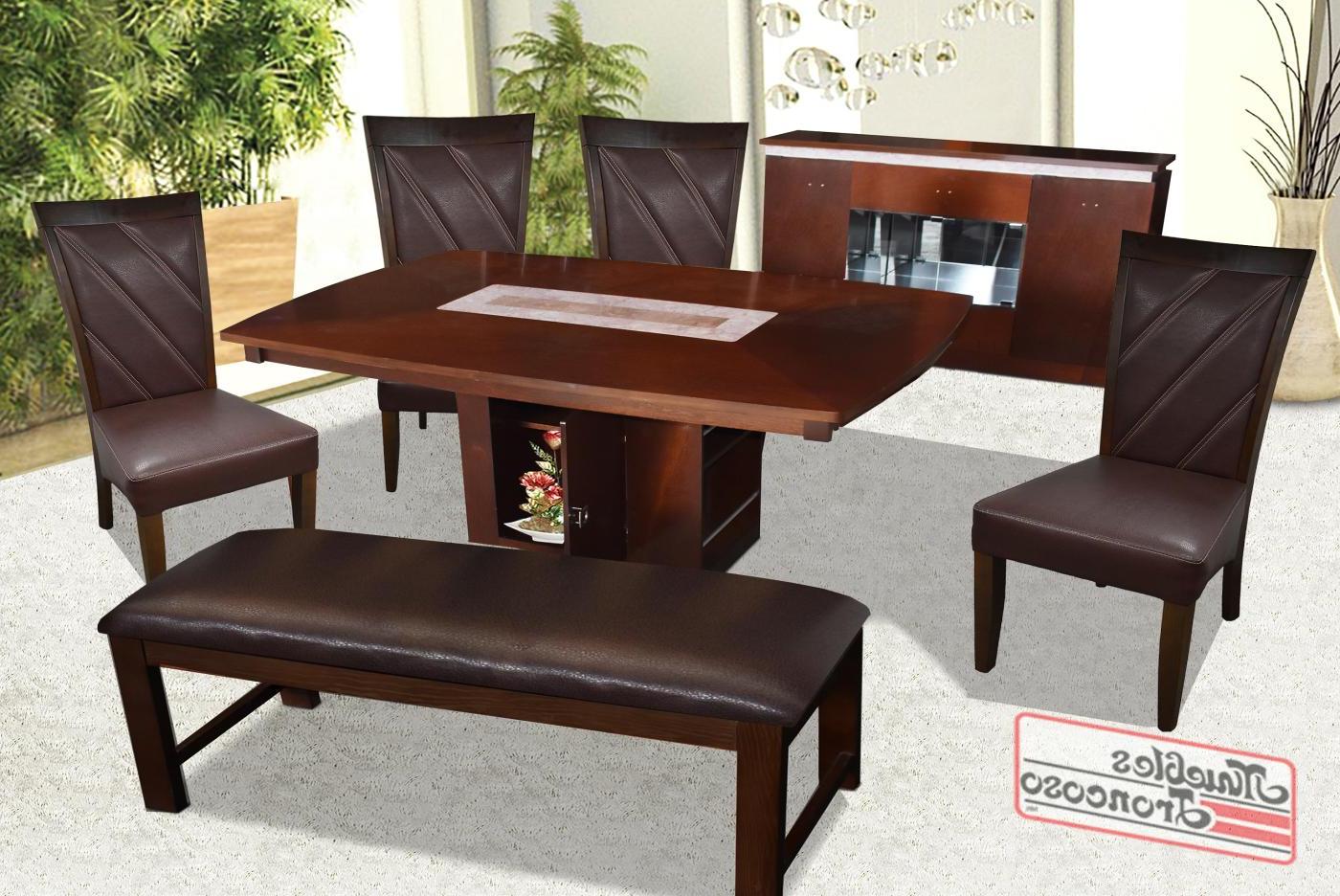Comedor Con Banca 3id6 Ante Edor Continental Con 4 Sillas Continental Y Banca Muebles