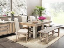 Comedor Con Banca Rldj Set Mesa De Edor Rectangular 4 Sillas Y Banca Vintage Muebles