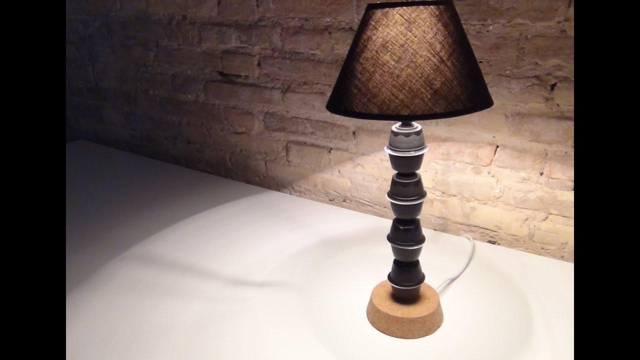 Como Hacer Una Lampara De Mesa Irdz Cà Mo Hacer Una Là Mpara De Mesa Con Cà Psulas De Cafà Dolce Gusto to Make A Lamp Coffee Capsules