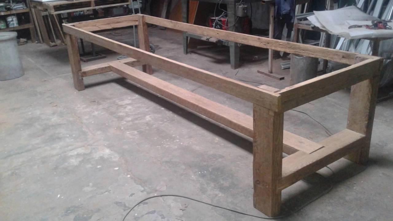 Como Hacer Una Mesa De Madera Rustica 87dx Fabricacion De Mesa Rustica A Mano Youtube