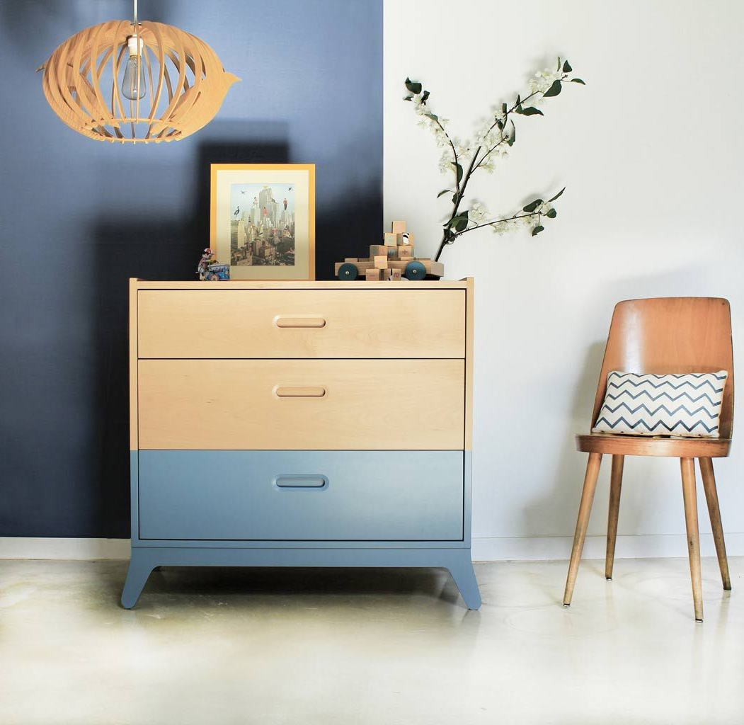 Comoda Madera Maciza Irdz CÃ Moda De Madera Maciza Para Dormitorio Infantil CÃ Moda Madera Y Azul