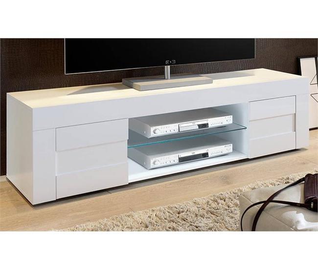 Conforama Muebles Tv 0gdr Mueble Tv Largo 2 Puertas Hermes Blanco Brillo Conforama