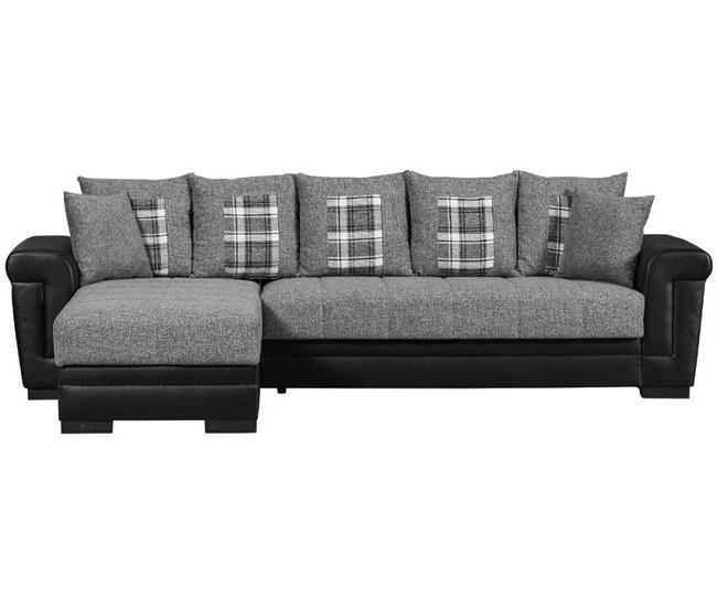 Conforama sofas Cheslong Ftd8 Chaise Longue Con Cama Reversible Tela Cambridge Negro Y Gris