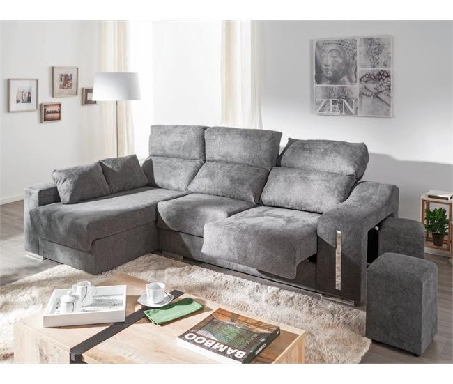 Conforama sofas Cheslong Irdz Chaise Longue Derecha Con 2 Poufs Lucà A Conforama