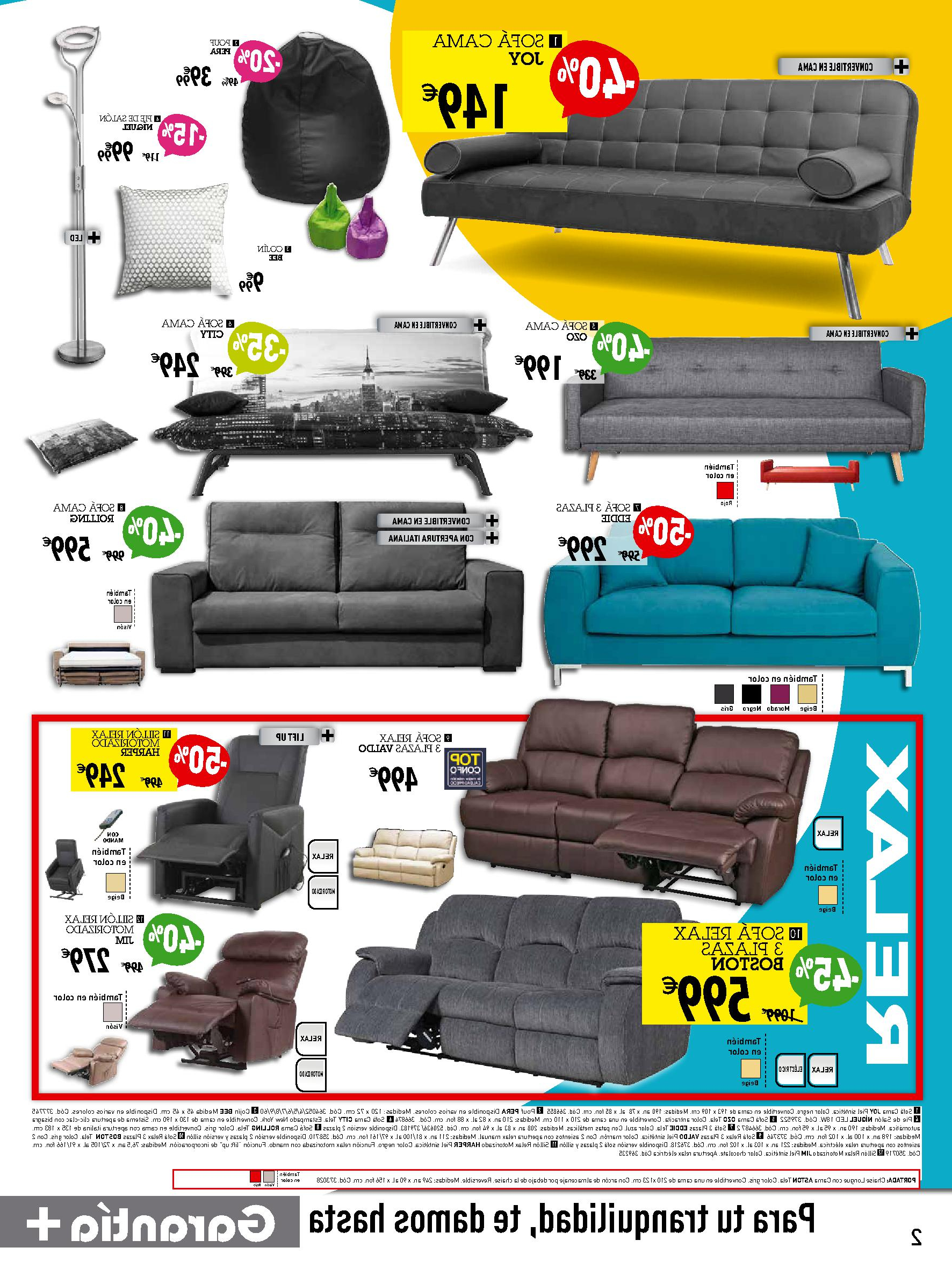Conforama sofas Ofertas H9d9 Ofertas sofà S Conforama Primavera 2016 Galeriamuebles
