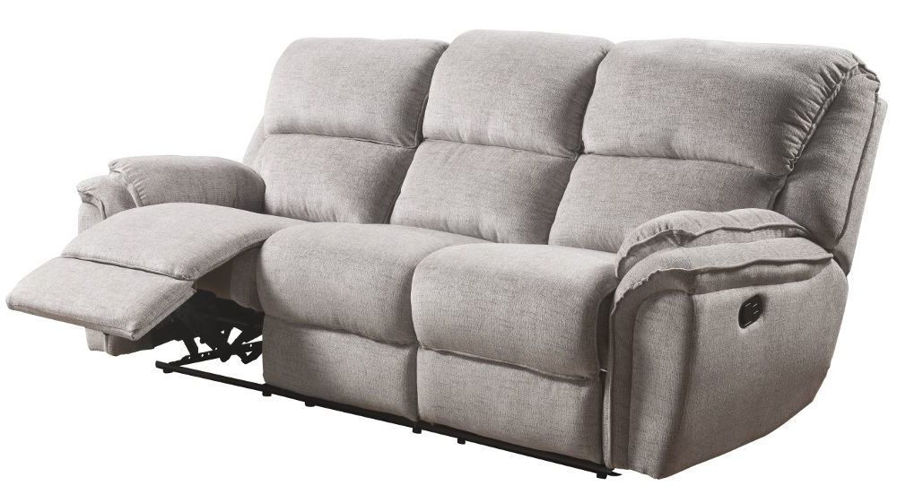 Conforama sofas Relax 4pde sofà Relax 3 Plazas De Tela Marly Gris Conforama