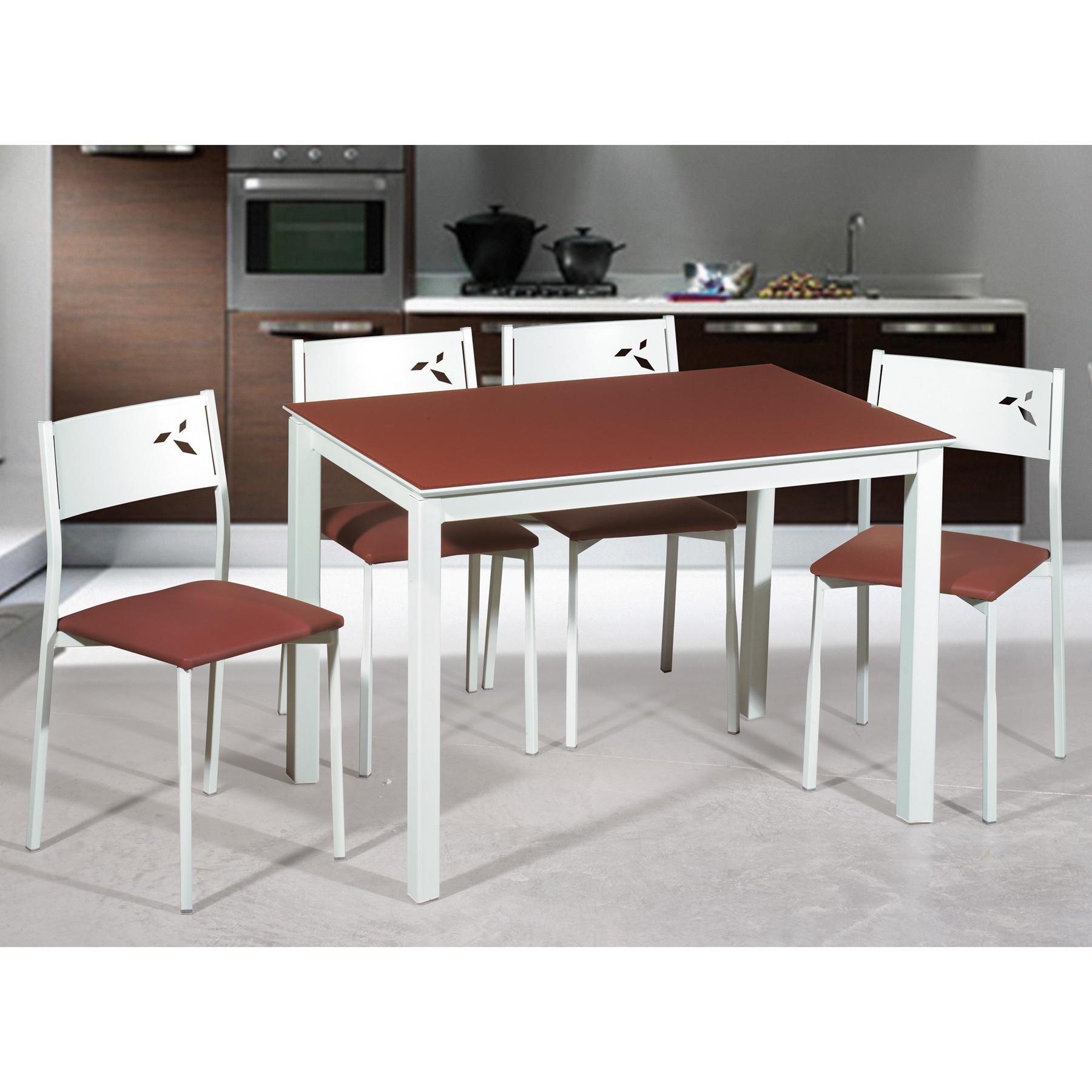 Conjunto Mesa Y Sillas Cocina Ffdn Oferta Conjunto Mesa Y Sillas De Cocina Blancas White
