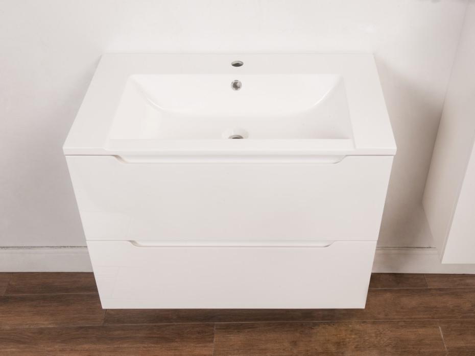 Conjunto Muebles De Baño Bqdd Conjunto Stefanie Muebles Para Baà O Y Espejo Lacado Blanco