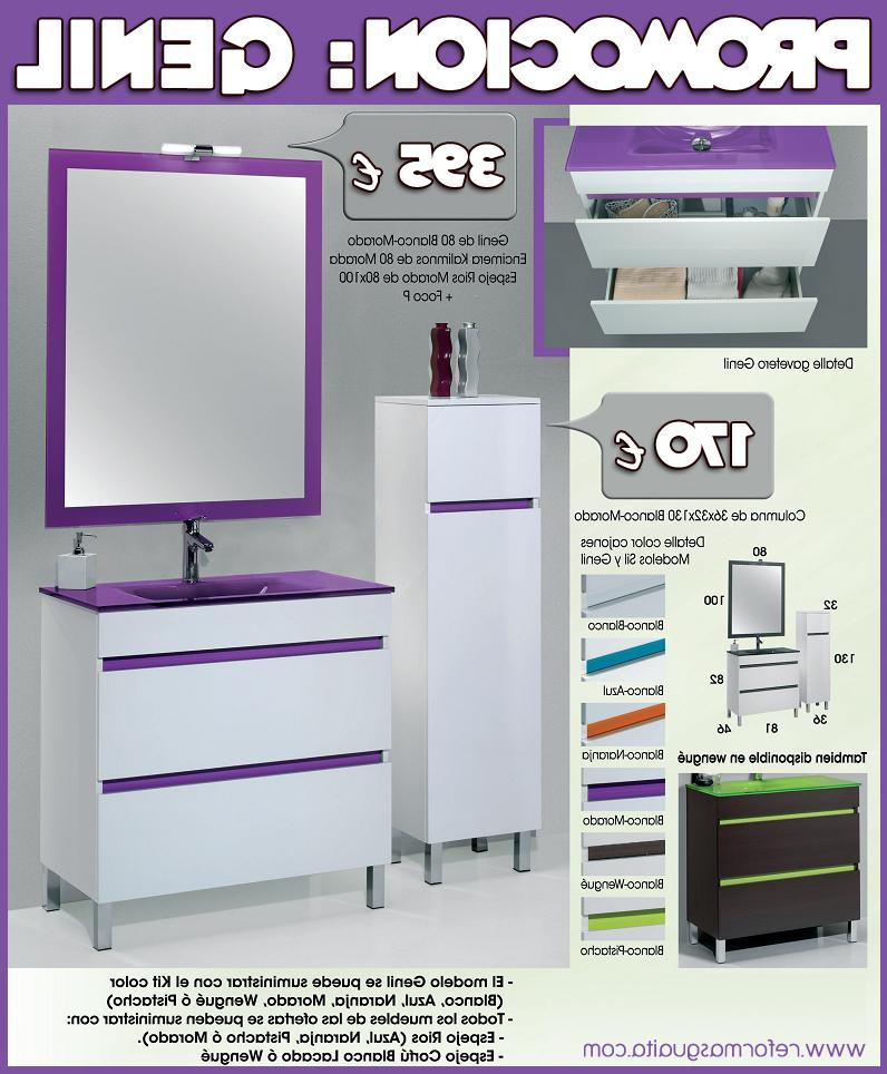 Conjunto Muebles De Baño Bqdd Genil Mueble Lavabo Espejo Aplique En Promocià N