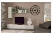 Conjunto Muebles Salon 4pde Conjunto Muebles Salà N Thor Color Blanco Brillo Sd Csc1 Rebuscando