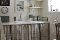 Cortinas Para Muebles De Cocina S1du solo Necesitas Una Pared Y Unas Cortinas Bello Rincà N Farmhouse