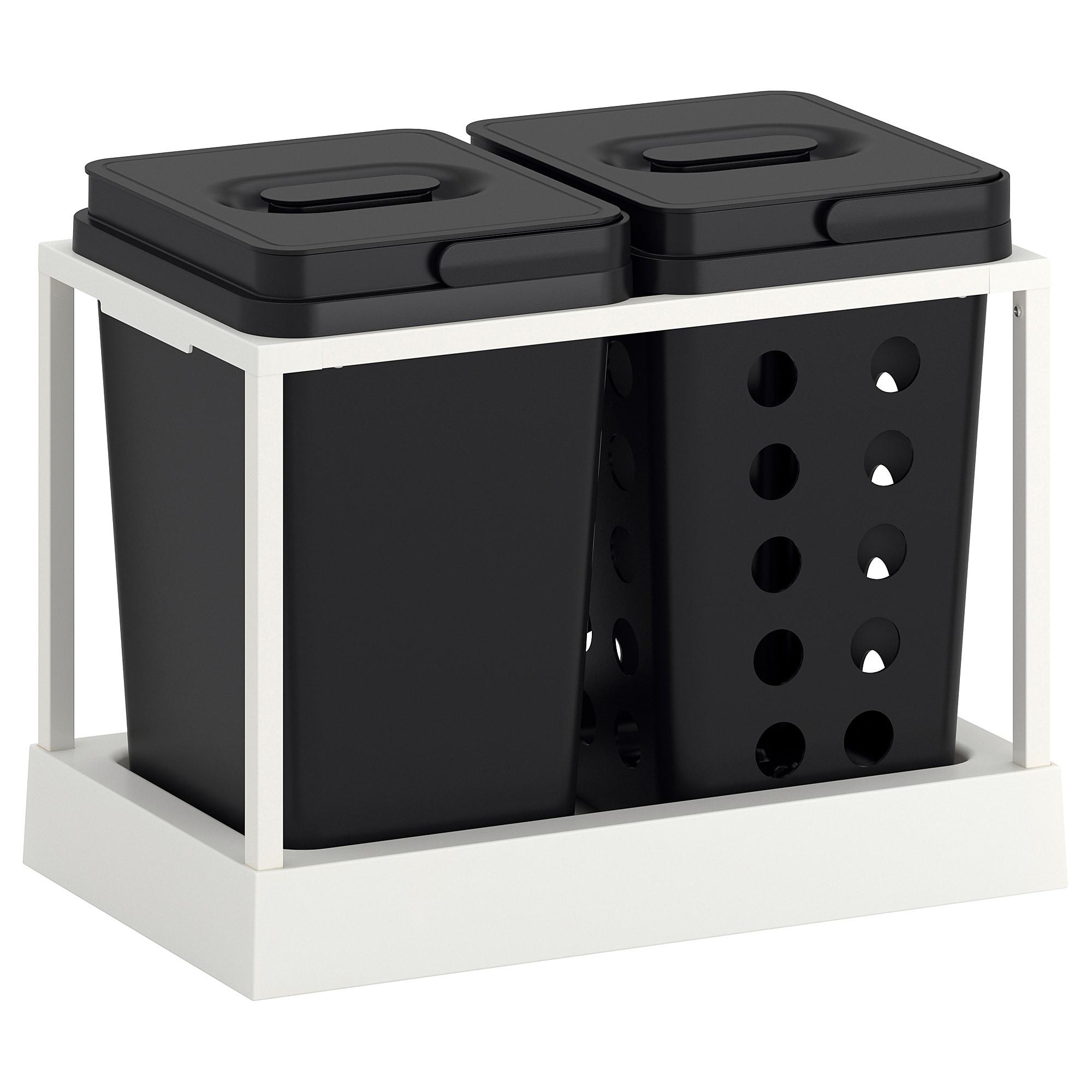 Cubo Basura Extraible Ikea Nkde Variera Utrusta Sistema De Reciclado Para Armario 26 Cm 22 L Ikea