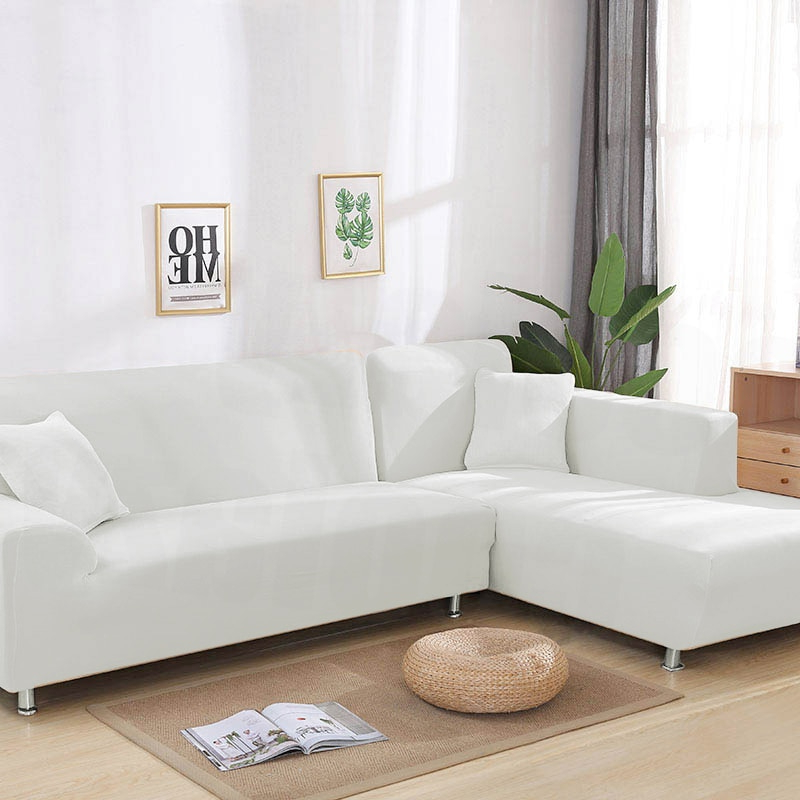 Cubre sofa Chaise Longue 3ldq Us 3 95 41 Off 1 2pieces solid Color White sofa Cover Elastic sofa Covers for Living Room Cubre sofa Couch Covers Corner Chaise Longue sofa In sofa