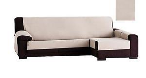 Cubre sofa Chaise Longue Budm DÃ Tails Sur Funda De sofa Para Chaise Longue 240 O 290cm Constanza Crudo Cubre Protector