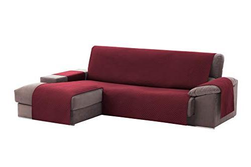 Cubre sofa Chaise Longue Etdg Textil Home Funda Cubre sofà Chaise Longue Circus Protector Para sofà S Acolchado Brazo Derecho Tamaà O 240cm Color Rojo Visto De Frente