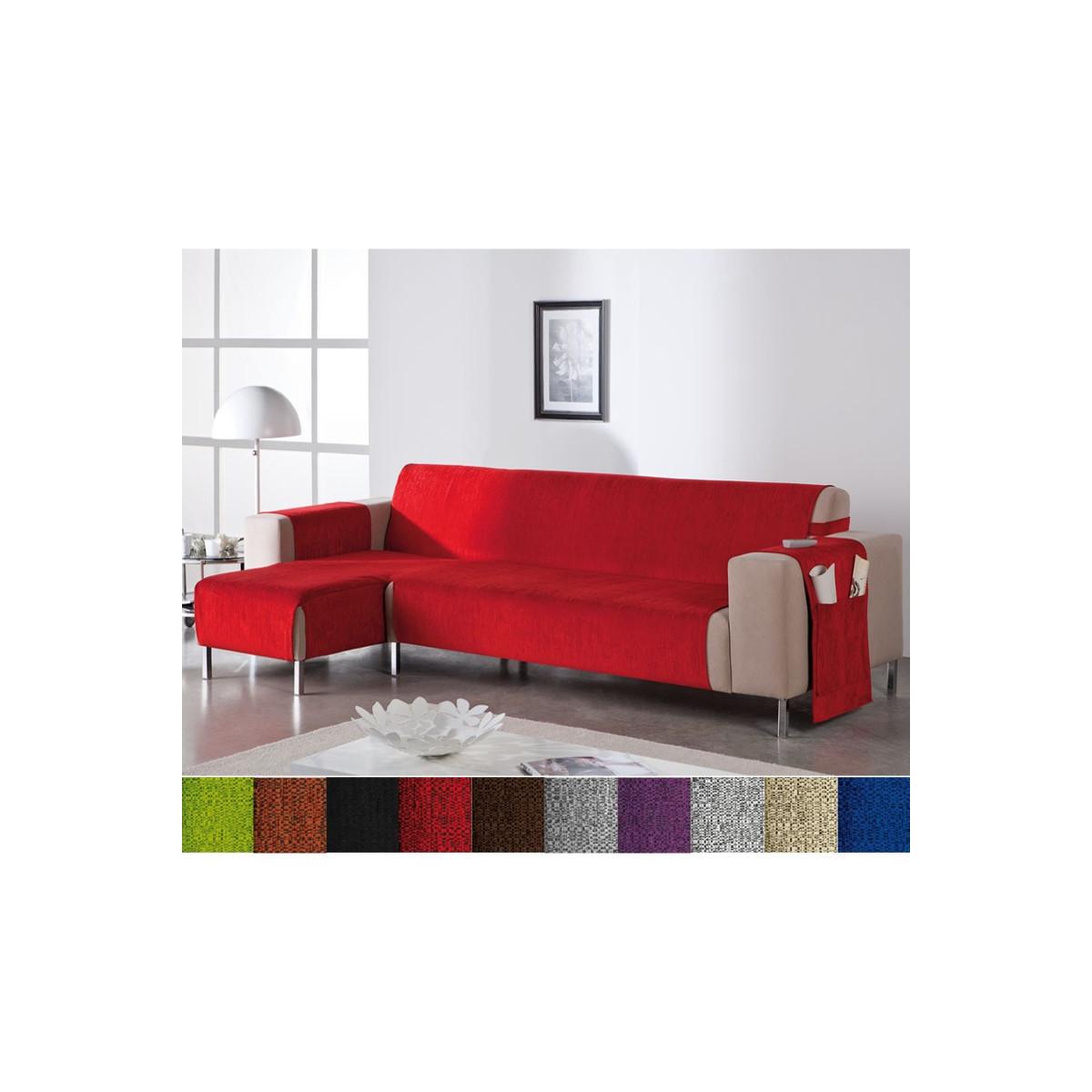 Cubre sofa Chaise Longue Q5df Funda Cubre sofà Chaise Longue No Elà Stico De Tacto Agradable Leonor