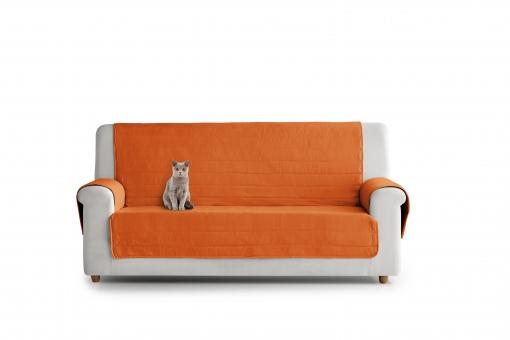 Cubre sofas Carrefour 87dx Cubre sofa Acolchado 4 Plazas Reversible Naranja Y Amarillo Las