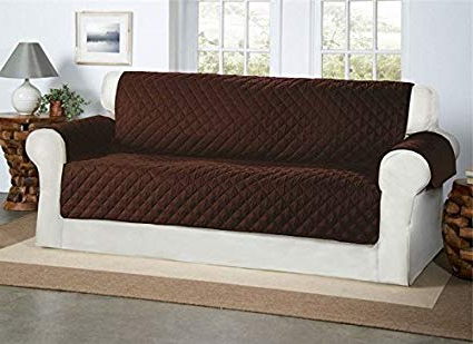 Cubre sofas Q0d4 Safari Homeware Cubre Chocolate Marrà N Para sofà S De 3 Plazas