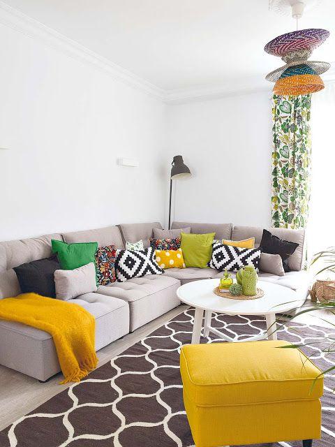 Decorar sofa Con Cojines Budm sofa Decorado Con Cojines De Colores Cuadros Pinterest