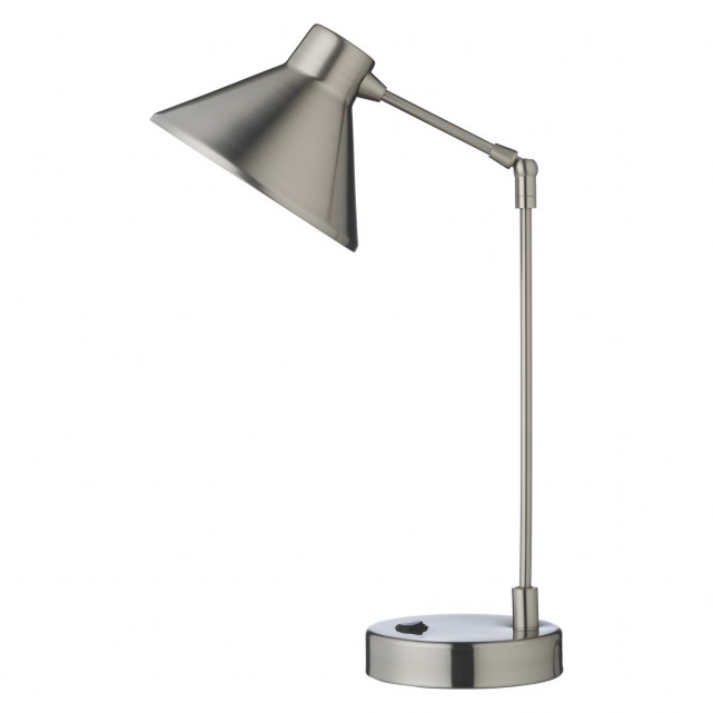 Desk Lamp Ffdn Bobby Silver Brushed Metal Desk Lamp now at Habitat Uk