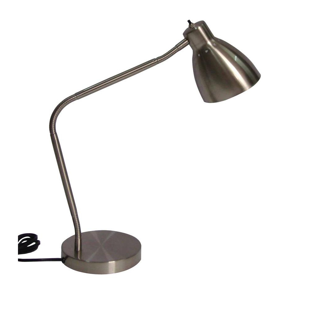 Desk Lamp Tldn Hampton Bay 27 5 In Satin Indoor Gooseneck Architect Desk Lamp