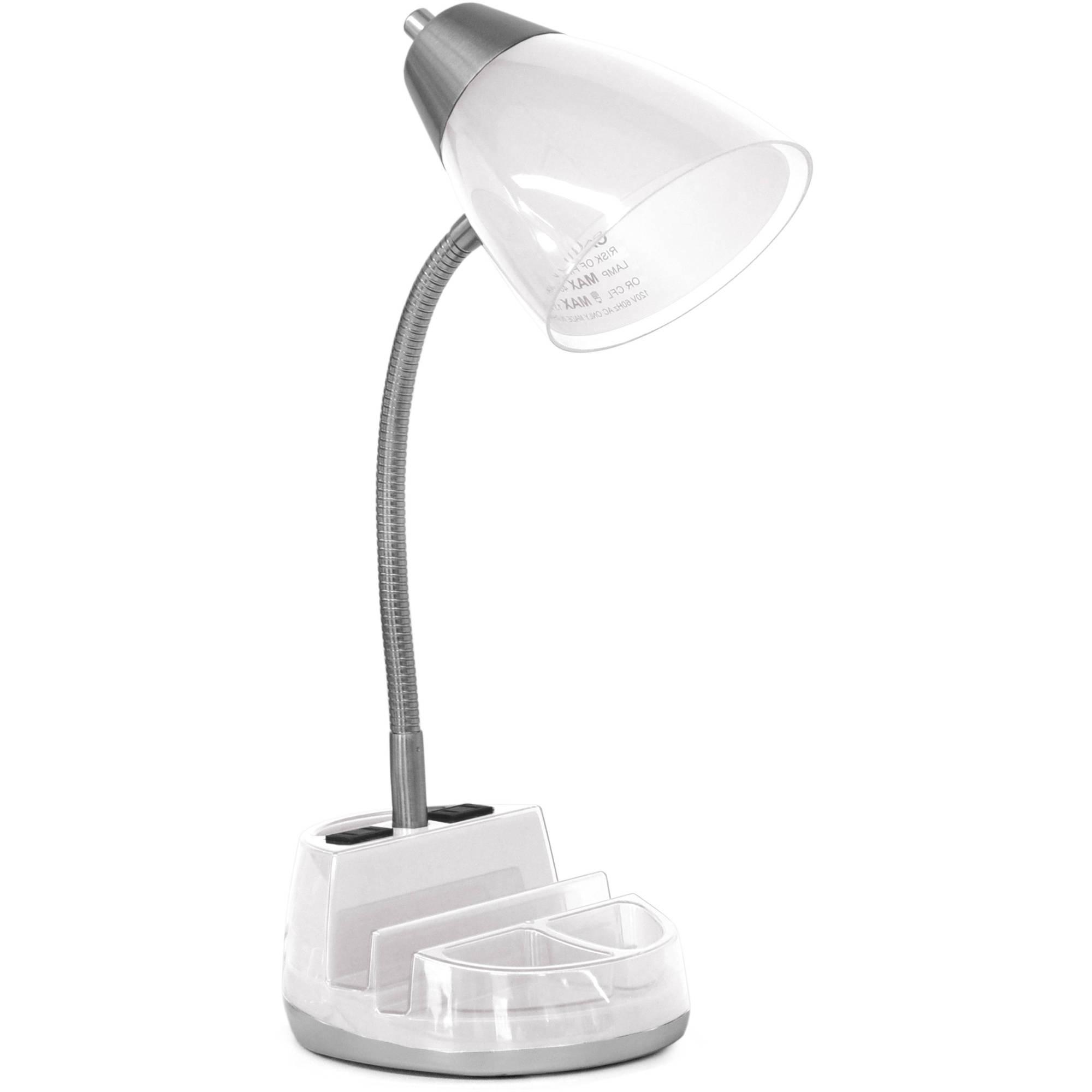Desk Lamp Y7du Mainstays Tablet organizer Desk Lamp with Cfl Bulb Walmart