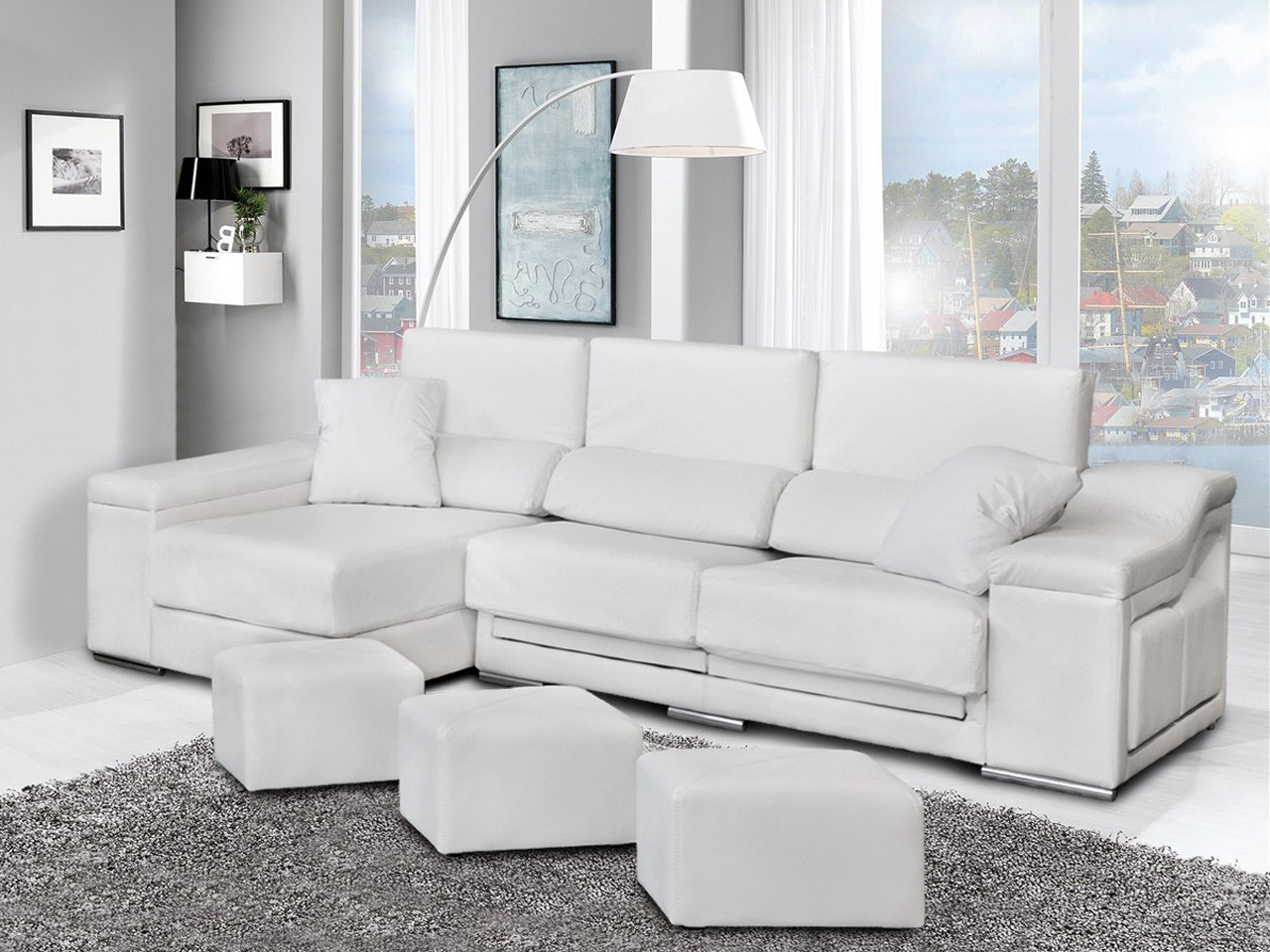 Dicoro sofas Zwd9 sofà Chaise Longue Con Puffs Jaguar