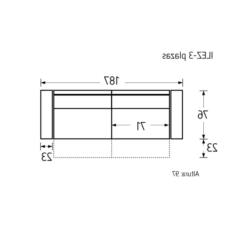 Dimensiones sofa 8ydm sofà Ilezi Con asientos Deslizantes Y Cabezales Reclinables